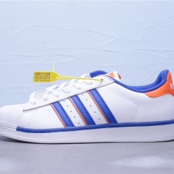 2020 Superstar Adidas 2020 Blue Orange White Sneakers Unisex FV2807 Casual Shoes
