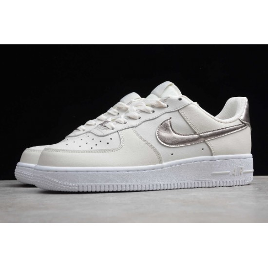 2020 Nike Air Force 1 Light Pink Silver Running Shoes AF1 314219 021 Womens Sneakers