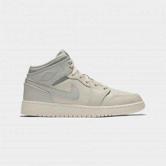 2020 Nike Air Jordan 1 Mid Beige Gray Basketball Shoes 554725 053 Unisex AJ1 Sneakers
