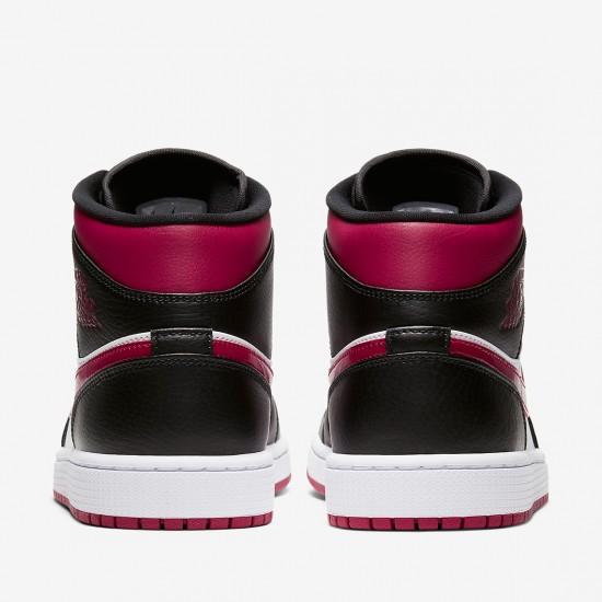 2020 Nike Air Jordan 1 Mid Bred Toe 554724 066 Basketball Shoes AJ1 Unisex Sneakers