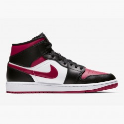 2020 Nike Air Jordan 1 Mid Bred Toe 554724 066 Basketball Shoes AJ1 Unisex Sneakers