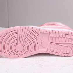2020 Nike Air Jordan 1 Mid GG White Fuchsia Blast Basketball Shoes 555112 100 AJ1 Womens Sneakers