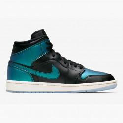 2020 Nike Air Jordan 1 Mid Iridescent BQ6472 009 Basketball Shoes Unisex AJ1 Sneakers