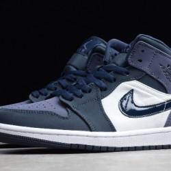 2020 Nike Air Jordan 1 Mid Sanded Purple 54724 445 Basketball Shoes Unisex Sneakers