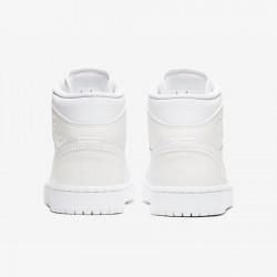 2020 Nike Air Jordan 1 Mid White Beige Basketball Shoes BQ6472 112 Womens AJ1 Sneakers