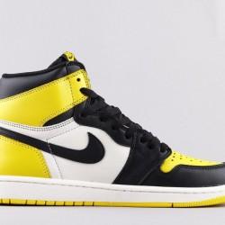 2020 Nike Air Jordan 1 Retro High OG Yellow Toe Jordan Sneakers AR1020 700 Mens Basketball Shoes