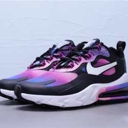 2020 Nike Air Max 270 React Purple Black White Running Shoes BV3387 400 Womens Sneakers
