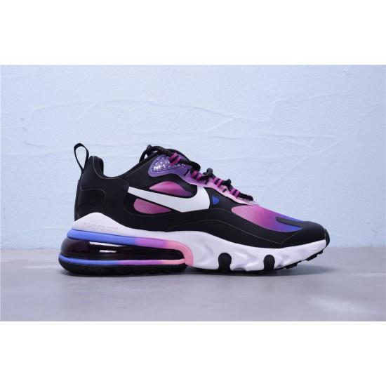 2020 Nike Air Max 270 React Purple Black White Running Shoes BV3387 400 Womens Sneakers