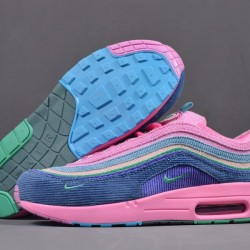 2020 Nike Air Max 97 VF SW Pink Blackish Green AJ4219 405 Womens Pink Sneakers