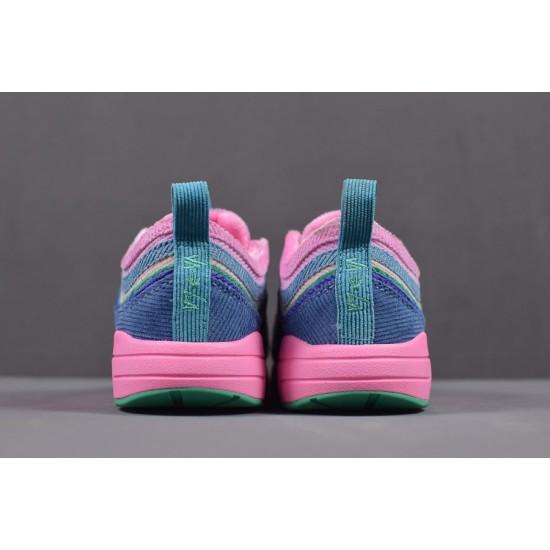2020 Nike Air Max 97 VF SW Pink Blackish Green AJ4219 405 Womens Pink Sneakers