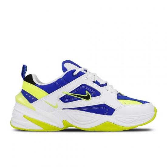 2020 Nike M2K Tekno White Volt Blue Running Shoes AV4789 105 Mens Sneakers