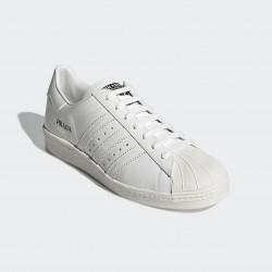 2020 Prada x Adidas Originals Superstar 80s White Black Casual Shoes FW6683 Unisex Sneakers