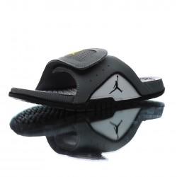 2020 Jordan Hydro IV Retro Black grey Gold Unisex Sandals