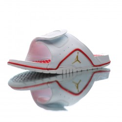 2020 Jordan Hydro IV Retro White Red Gold Unisex Sandals