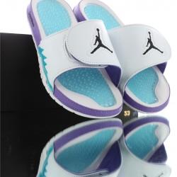 2020 Air Jordan HYDRO V White Purple Blue Unisex Sandals