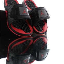 2020 Air Jordan Hydro XIII RETRO Black Red Unisex Sandals