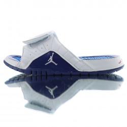 2020 Air Jordan Hydro XIII RETRO White Blue Black Unisex Sandals