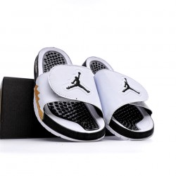 2020 JORDAN HYDRO V RETRO Black White Yellowjpg Unisex Sandals