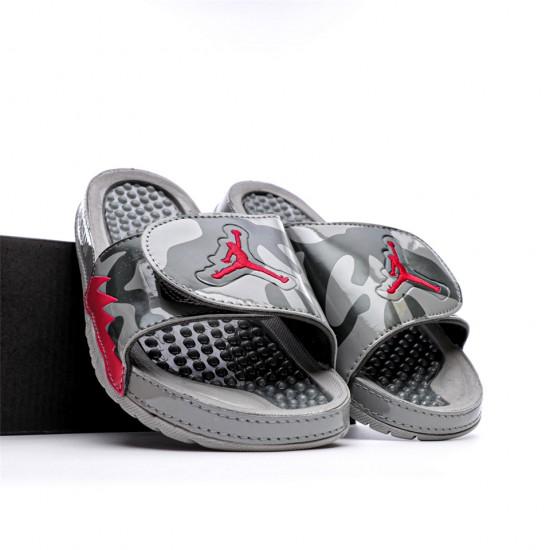 2020 JORDAN HYDRO V RETRO Grey Red Black Unisex Sandals