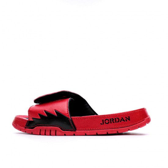 2020 JORDAN HYDRO V RETRO Red Black Unisex Sandals