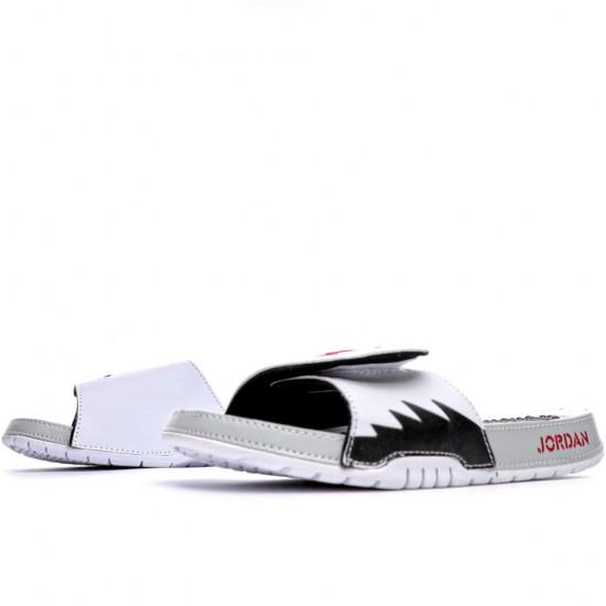 2020 JORDAN HYDRO V RETRO White Black Red Unisex Sandals