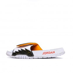 2020 JORDAN HYDRO V RETRO White Black Yellow Blue Unisex Sandals