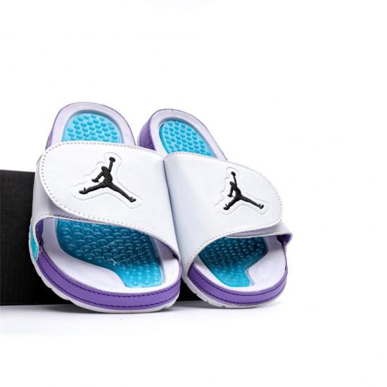 2020 JORDAN HYDRO V RETRO White Blue Purple Unisex Sandals