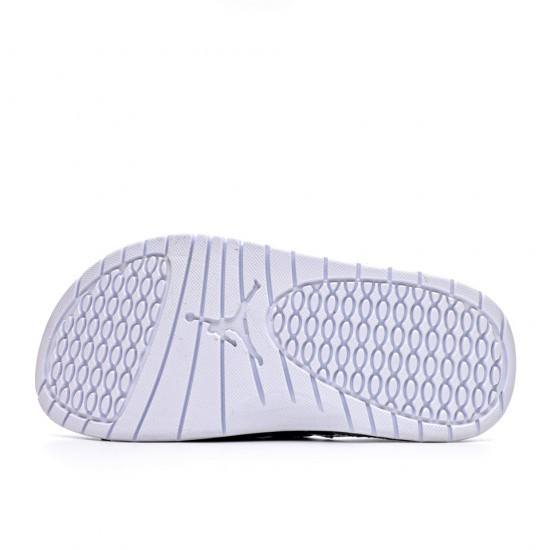 2020 JORDAN HYDRO VI RETRO Black Red white Unisex Sandals