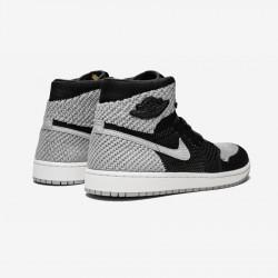 "Air Jordan 1 Flyknit ""Shadow"" 919704 003 Black Black/Medium Grey - White Basketball Shoes"