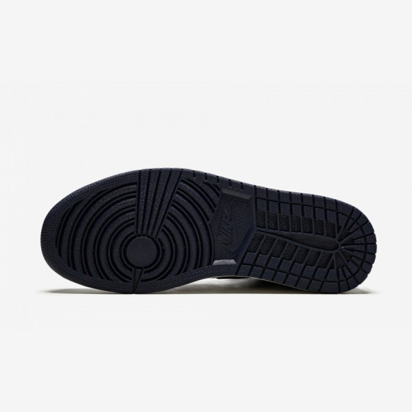 "Air Jordan 1 High OG ""Obsidian/University Blue"" 555088 140 Sail/Obsidian-University Blue Basketball Shoes"