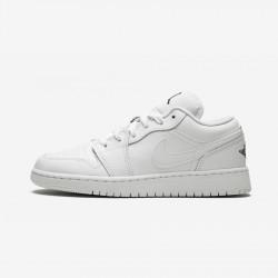 Air Jordan 1 Low GS 553560 110 Black White/Black Basketball Shoes