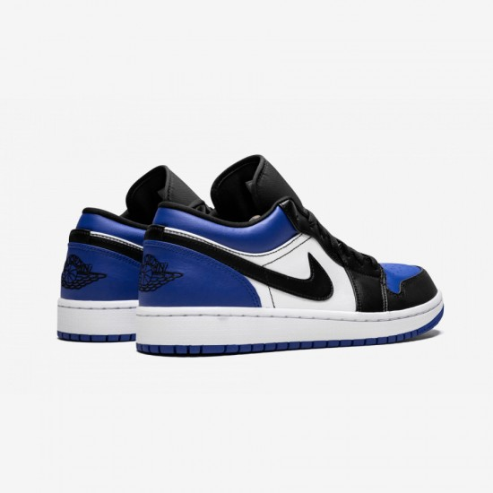 "Air Jordan 1 Low ""Royal Toe"" CQ9446 400 Black Sport Royal/Black-White Basketball Shoes"