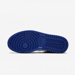 "Air Jordan 1 Low ""Royal Toe"" CQ9446 400 Black Sport Royal/Black-White Basketball Shoes"