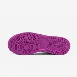 Air Jordan 1 Mid 555112 100 Viola White/White/Fuchsiablast Basketball Shoes