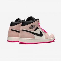 "Air Jordan 1 MID SE ""Crimson Tint/Hyper Pink"" 852542 801 Pink Crimson Tint/Hyper Pink-Black Basketball Shoes"