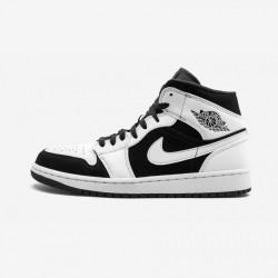 "Air Jordan 1 Mid ""Tuxedo"" 554724 113 Black White/Black-White Basketball Shoes"