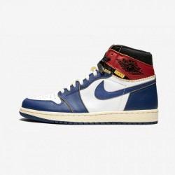 "Air Jordan 1 Retro HI NRG / UN ""Union - Storm Blue"" BV1300 146 White/Stormblue-Varsity Red Basketball Shoes"