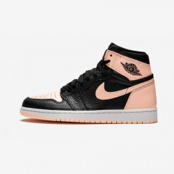 "Air Jordan 1 Retro High OG ""Crimson Tint"" 555088 081 Black Black/Crimson Tint-White Basketball Shoes"