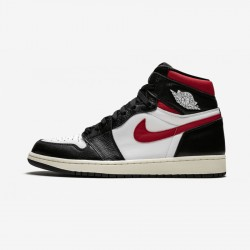"Air Jordan 1 Retro High OG ""Gym Red"" 555088 061 Black Black/White-Gym Red Basketball Shoes"