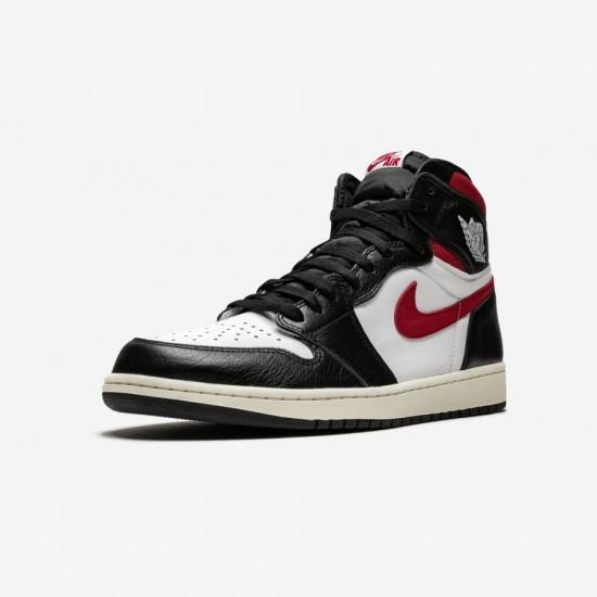 "Air Jordan 1 Retro High OG ""Gym Red"" 555088 061 Black Black/White-Gym Red Basketball Shoes"