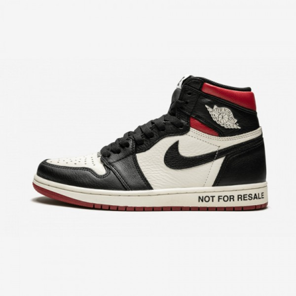 "Air Jordan 1 Retro High OG NRG ""Not For Resale"" 861428 106 Black Sail/Black-Varsity Red Basketball Shoes"