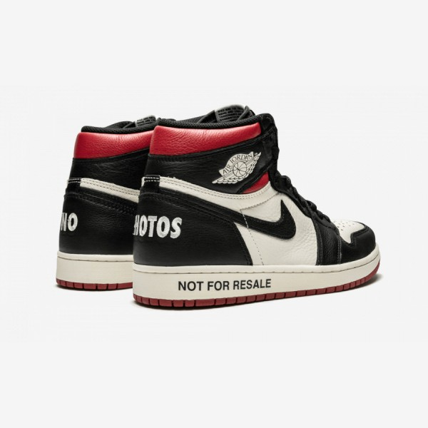 """Air Jordan 1 Retro High OG NRG """"Not For Resale"""" 861428 106 Black Sail/Black-Varsity Red Basketball Shoes"""