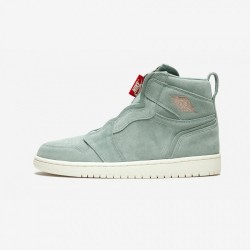 Air Jordan 1 Womens High Zip AQ3742 305 Green Leather And Rubber Mica Green/Mtlc Red Bronze Basketball Shoes