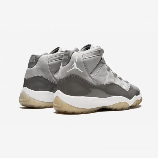 Air Jordan 11 136046 011 Grey Medium Grey/White-Cool Grey Basketball Shoes