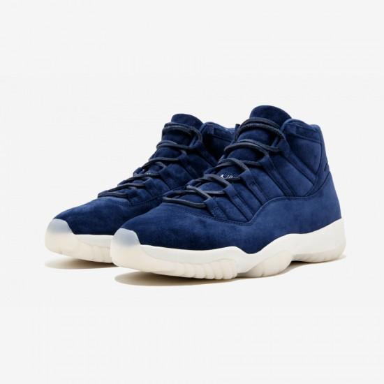 """Air Jordan 11 Jeter """"Derek Jeter"""" 351792 147 Navy Navy/Suede Basketball Shoes"""