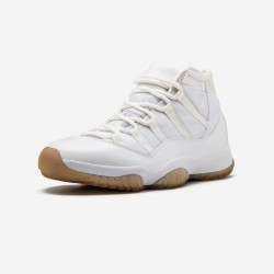 "Air Jordan 11 Retro ""Anniversary"" 408201 101 White Leather And Patent Leather And Synthetics White/Metallic Silver Basketball Shoes"