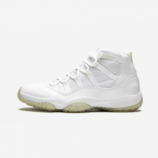 """Air Jordan 11 Retro """"Anniversary"""" 408201 101 White Leather And Patent Leather And Synthetics White/Metallic Silver Basketball Shoes"""