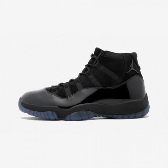 "Air Jordan 11 Retro ""Cap & Gown"" 378037 005 Black Patent Leather And Rubber Black/Black-Black Basketball Shoes"