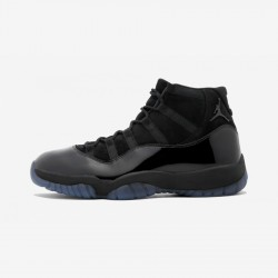 "Air Jordan 11 Retro ""Cap & Gown"" 378037 005 Black Patent Leather And Rubber Black/Black-Black Basketball Shoes"