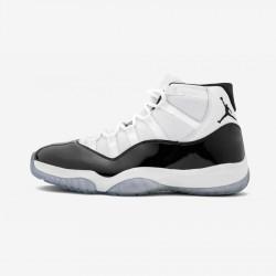"Air Jordan 11 Retro ""Concord"" 378037 100 Black White/Black-Concord Basketball Shoes"
